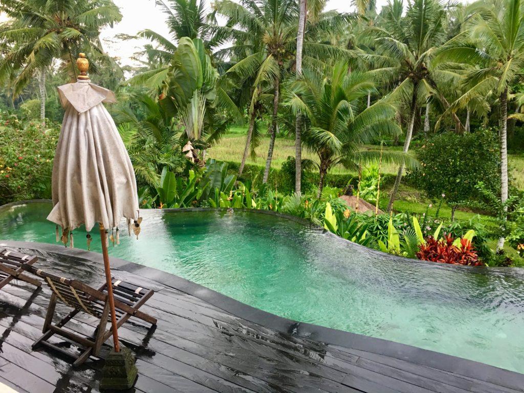 piscine émeraude rizière Bali